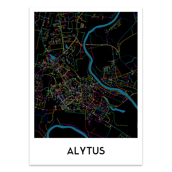 Alytaus žemėlapis (Naktinis)