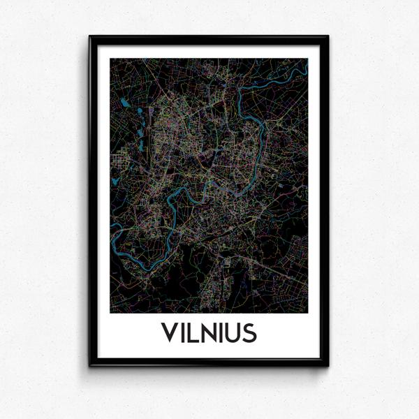 Vilniaus žemėlapis (Naktinis)