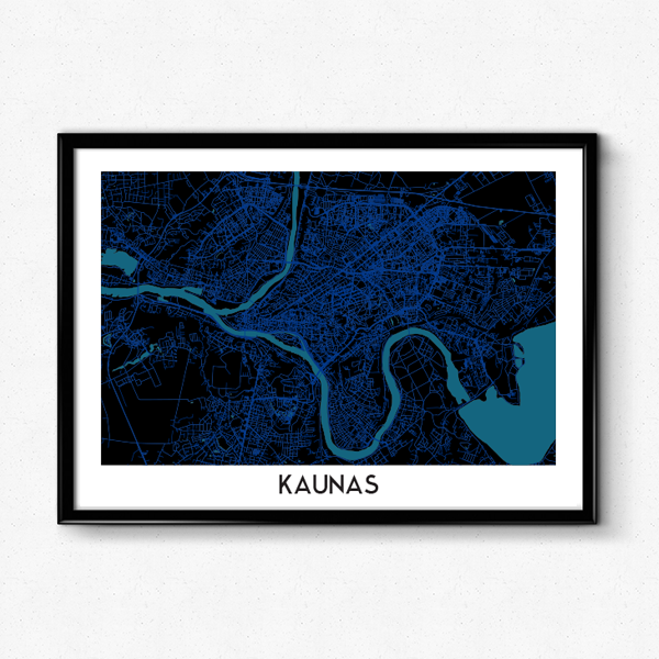 Kauno žemėlapis (Blue Dream)