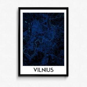 Vilniaus žemėlapis (Blue Dream)